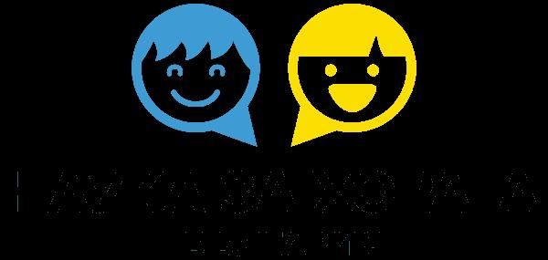 Логото на центъра за ефективно общуване представлява две усмихнати лица и текста Наука за хората България.